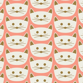 Pink Cat Nap Blush cotton fabrics design