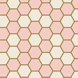 Hexagon Rose cotton fabrics design