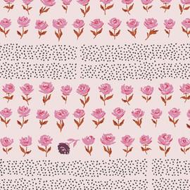 Pink Hyde Park Blush floral Fabrics design