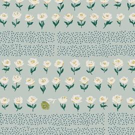 Blue Hyde Park Fresh floral fabrics design