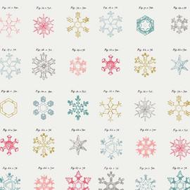 Snowflakes Christmas fabrics design