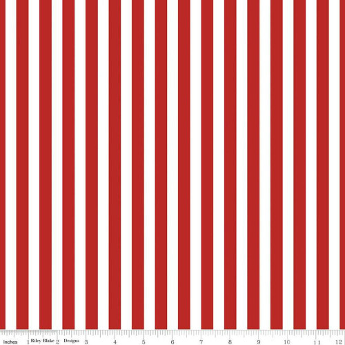 Red Stripe cotton fabrics design