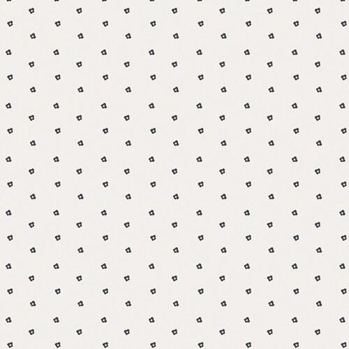 Black white tiny floral fabrics design
