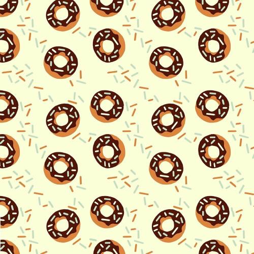 Chocolate donuts sprinkles Fabrics design