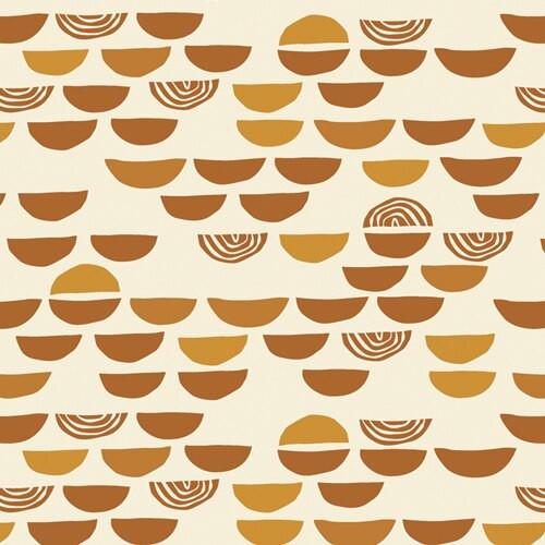 Unglazed Earthenware cotton fabrics design
