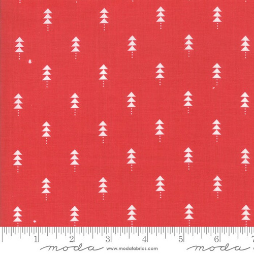Red Christmas tree Fabrics design