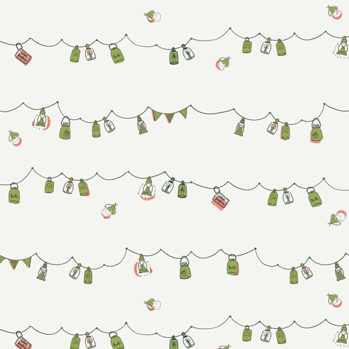 Playful Mini Bunting lantern cotton fabrics design