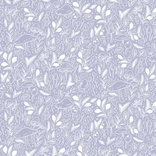 Dreamy Fabric, Mystical Mushroom Cotton Fabric, QTR YD
