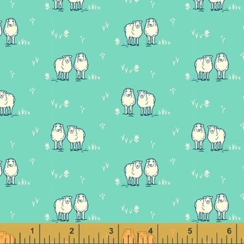 Sheep farm quilt cotton fabrics design