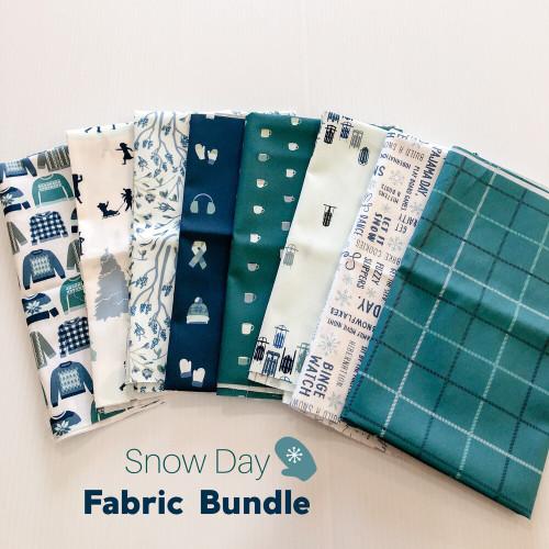 Snow Day Fabric Bundle quilt cotton fabrics design