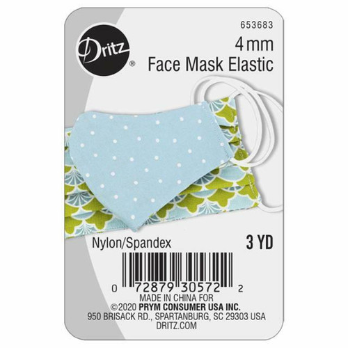 Face Mask Elastic 3 yards X 4 mm by Dritz
