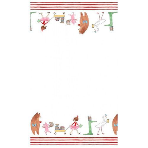 Lola Dutch parade border red fabrics design