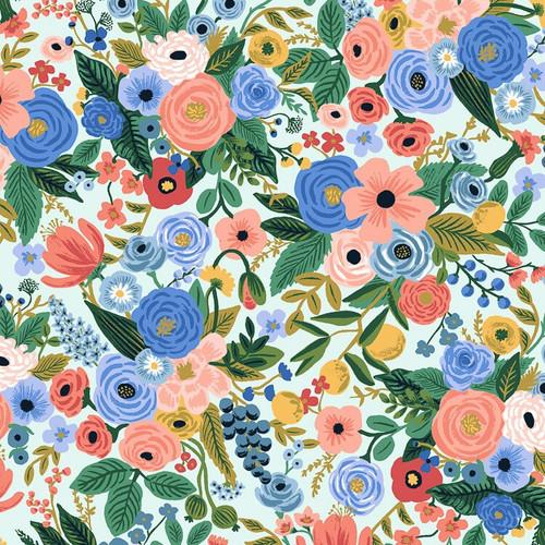 Garden Party Petite blue white fabrics design