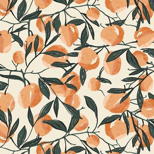 Orange peach fabrics design