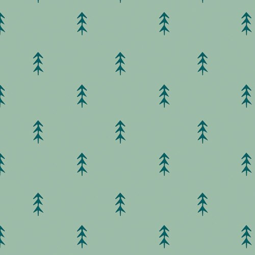 Blue green pine trees fabrics design
