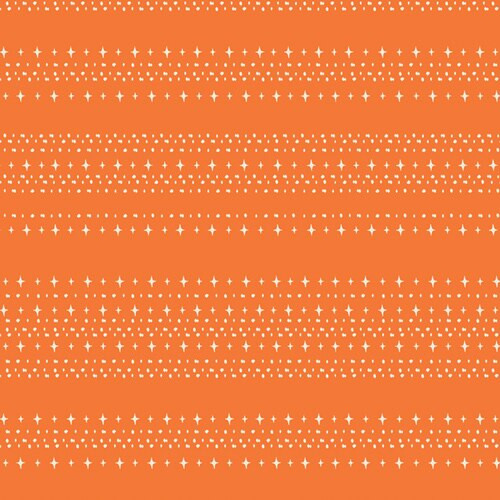Orange stars aligned treat cotton fabrics design