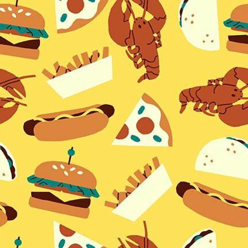 Food Truck food fabrics design