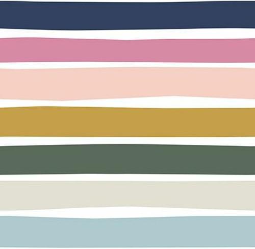 Neutral stripe Over the Rainbow cotton fabrics design