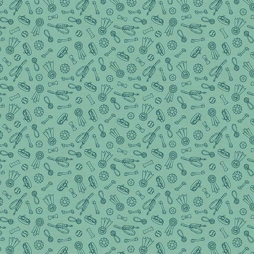 Dog Stuff green fabrics design