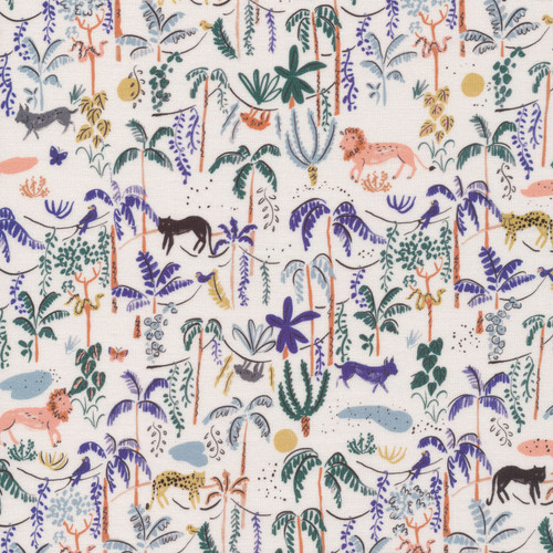 Jungle Forest fabric, Cloud 6 Fabrics Bountiful Forest organic cotton, QTR YD