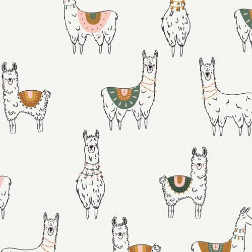 Llama cotton fabrics design