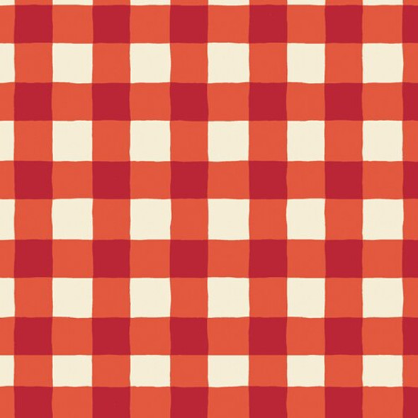 Red White Buffalo Plaid cotton Fabrics design