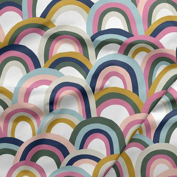 Neutral big rainbow fabrics design