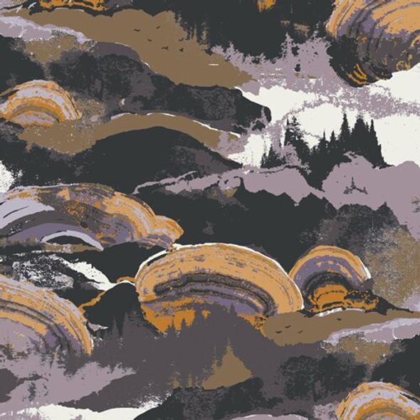 Gaia Sunshine earth tone cotton fabrics design