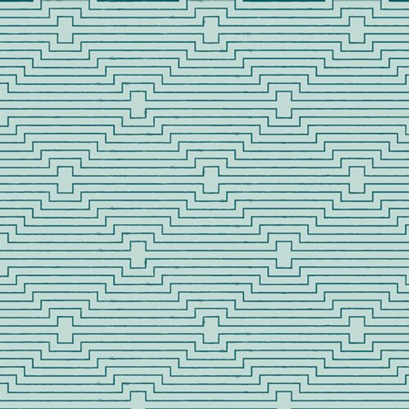 Teal Modern Geometric fabrics design