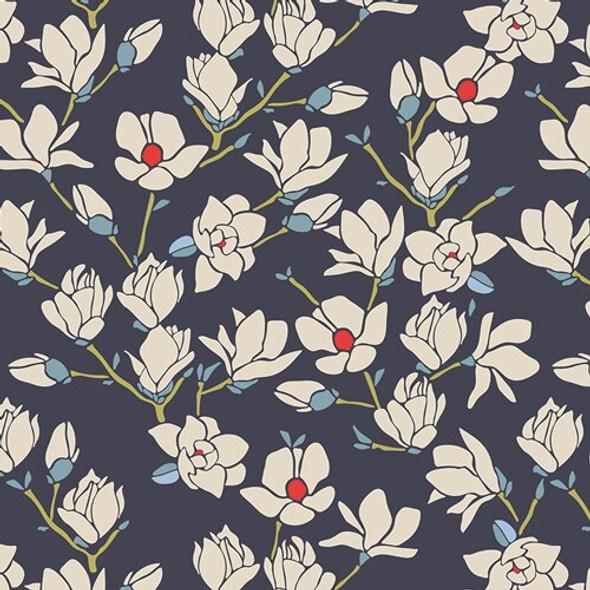 Magnolia flowers floral fabrics design