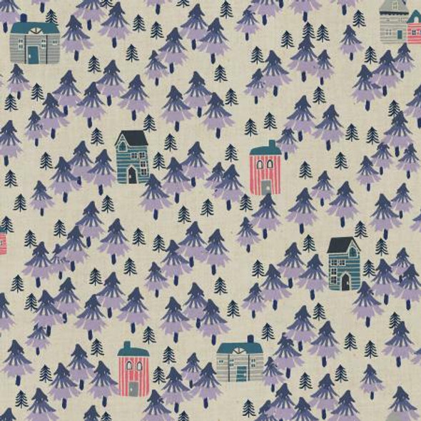 Nature Walk- Purple Haze Unbleached fabrics design
