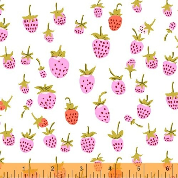 Lilac Strawberry fabrics design