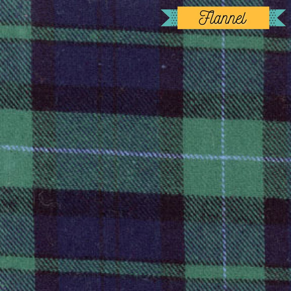 Green blue plaid flannel Fabrics design