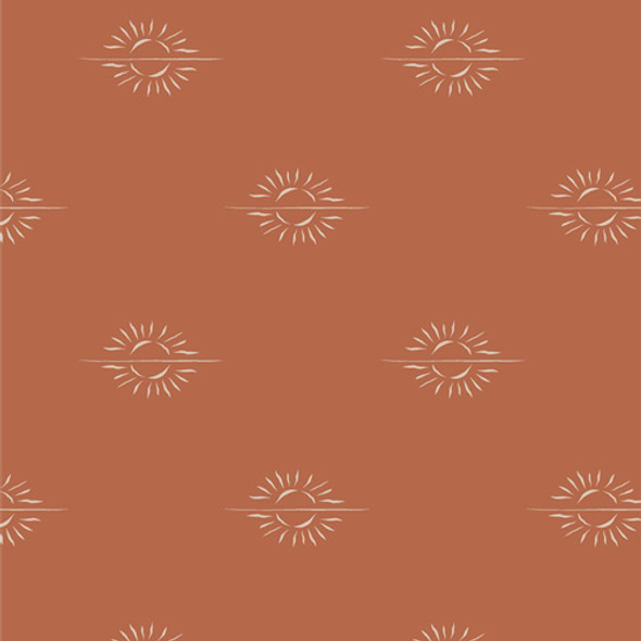 Horizon Mirage Clay cotton fabric - Spirited Art Gallery Fabrics  - 1/4 Yd