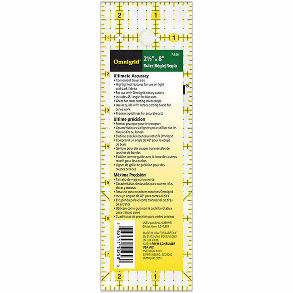 Omnigrid sewing quilting ruler