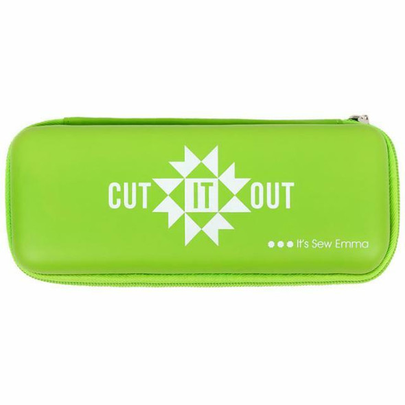 Lime green rotary cutter storage travel case