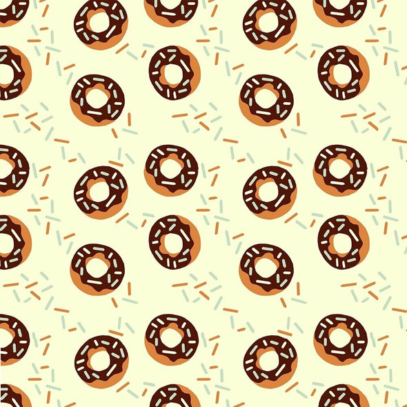 Chocolate donuts sprinkles Fabrics design