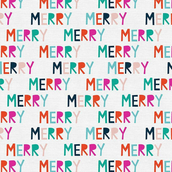 Colorful Merry Christmas Fabrics design