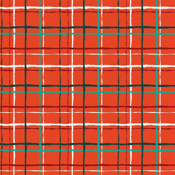 Red Green Christmas plaid cotton Fabrics design
