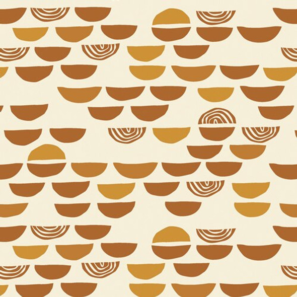 Unglazed Earthenware cotton fabrics design
