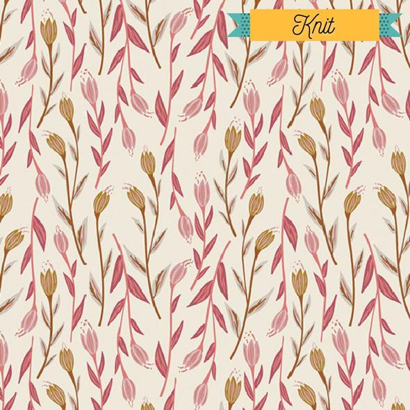 Pink floral KNIT fabrics design