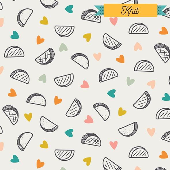 Taco Love KNIT fabrics design