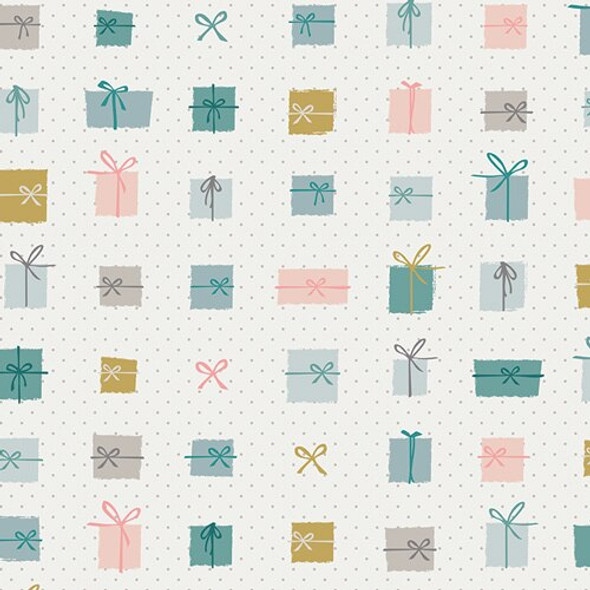 Pastel Christmas Presents Fabrics design