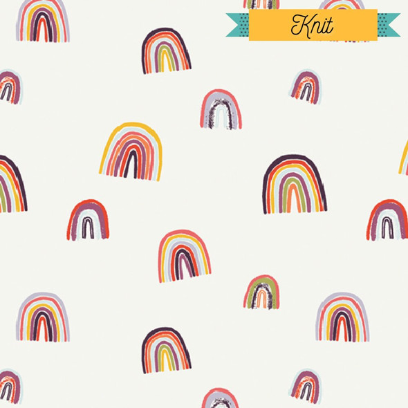 Modern Rainbow KNIT cotton fabrics design