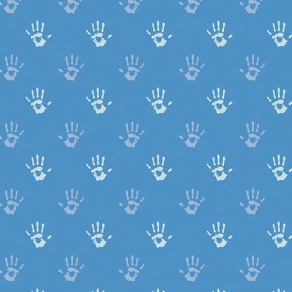 Blue Fingerpaint Cobalt Hand fabrics design