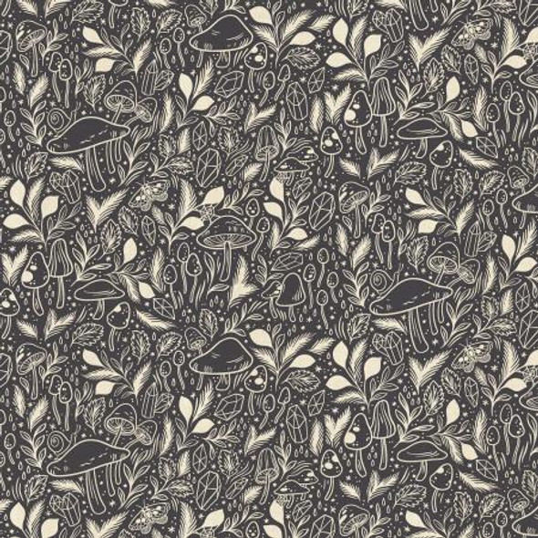 Deep Mulberry Unbleached Fabric, Mystical Cotton Fabric, QTR YD
