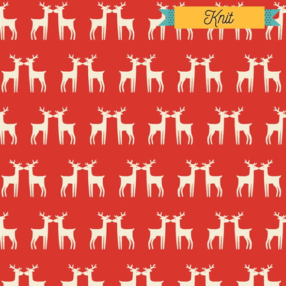 Red Reindeer KNIT Fabrics design