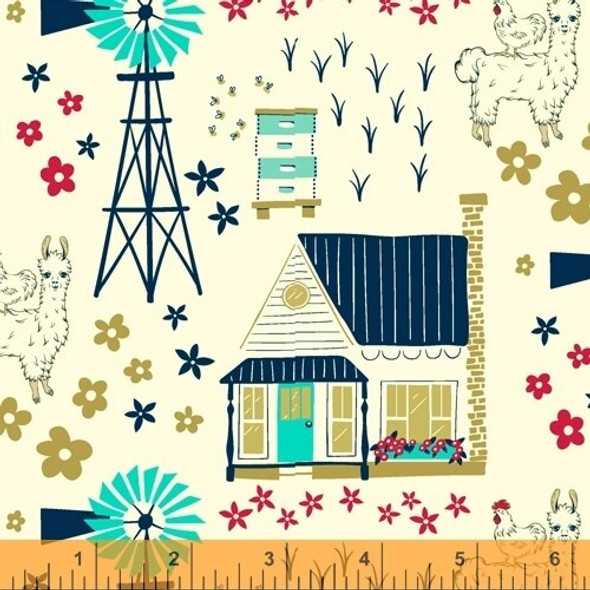 Llama farm quilt cotton fabrics design