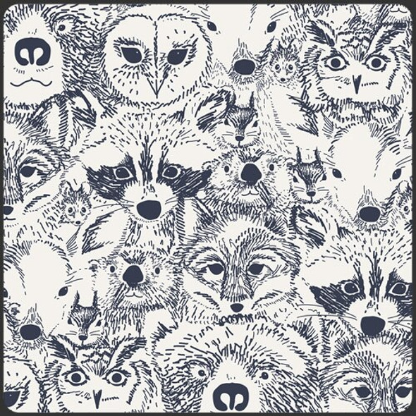 Modern woodland animals fabrics design