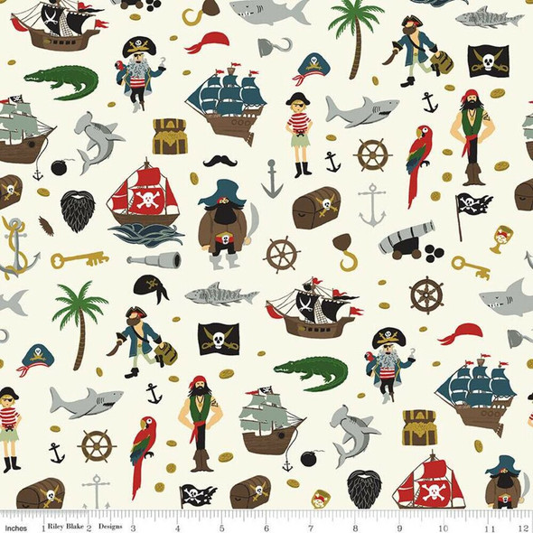 Pirate Tales Treasure Fabrics design
